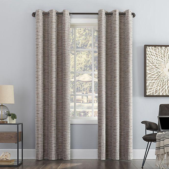 Alternate image 1 for Sun Zero® Denver Distressed Stripe Thermal Total Blackout Grommet Curtain Panel (Single)