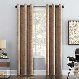 Sun Zero® Denver Distressed Stripe Total Blackout 63-Inch Curtain Panel in Pecan (Single)