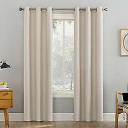 Sun Zero® Liam Heathered Strie Extreme Blackout 96-Inch Curtain Panel in Ecru (Single)