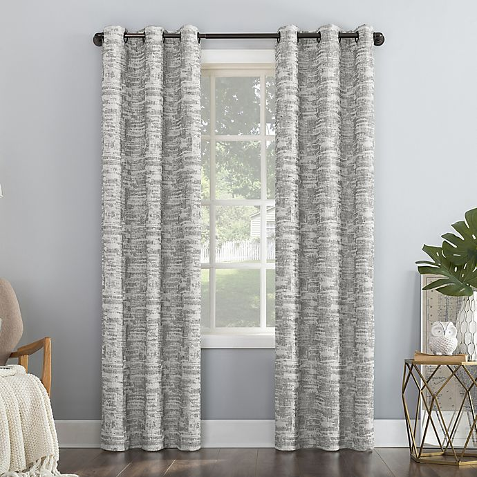 Alternate image 1 for Sun Zero® Parrish Distressed Grid Thermal Total Blackout Curtain Panel (Single)