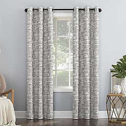 Sun Zero® Parrish Distressed Grid Thermal Total Blackout Curtain Panel (Single)