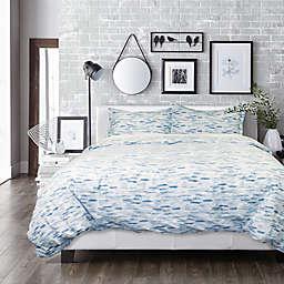 Springs Home Stripple 3-Piece Duvet Cover Set in Blue