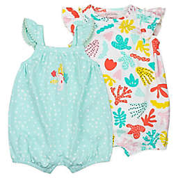 Mac & Moon 2-Pack Coral Reef Sleeveless Organic Cotton Rompers