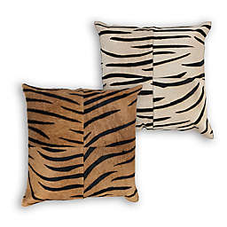 Divine Home® Animal Print Natural Cowhide Square Throw Pillow