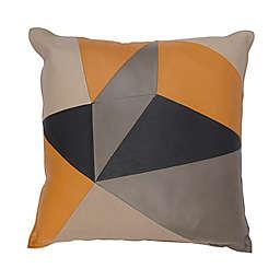 Divine Home® Geometric Triangles Genuine Lambskin Square Throw Pillow in Multi
