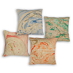 Divine Home Marble Print Square Throw Pillow