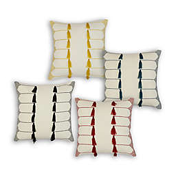 Divine Home Tassels and Stitches Square Throw Pillow
