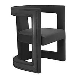 TOV Furniture Ada Velvet Chair in Black