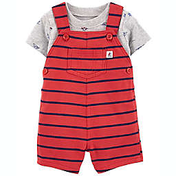 carter's® Newborn 2-Piece Boat T-Shirt and Shortall Set in Red
