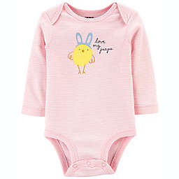 carter's® Size 3M Easter Chick Bodysuit in Pink