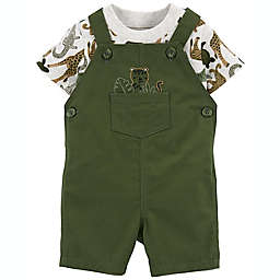 carter's® 2-Piece Junge T-Shirt and Tiger Shortall Set in Green