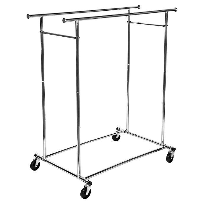Alternate image 1 for Simply Essential™ Commercial Grade Dual Bar Adjustable Garment Rack