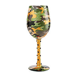 Lolita® Camouflage Wine Glass in Green/Gold