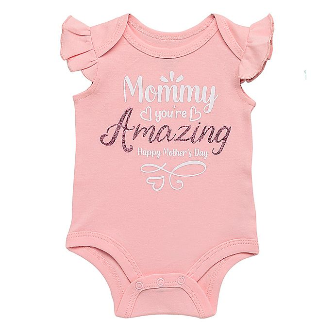 Alternate image 1 for Baby Starter's® Size 3M Amazing Mommy Bodysuit in Pink