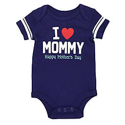 Baby Starters® Heart Mommy Bodysuit in Navy