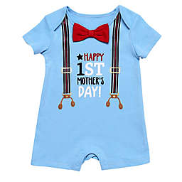 Baby Starters® Size 12M Mother's Day Suspenders Romper in Blue
