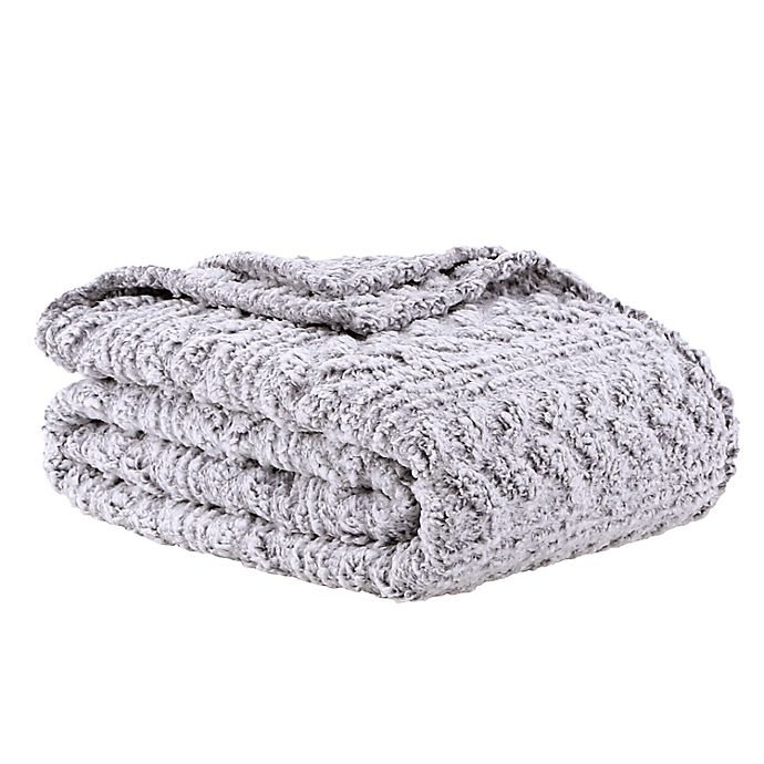 Alternate image 1 for Wild Sage™ Kaity Plush Sherpa Blanket in Grey