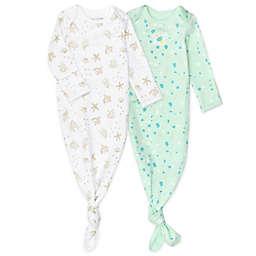 Mac & Moon Newborn 2-Pack Coastal Long Sleeve Baby Gowns