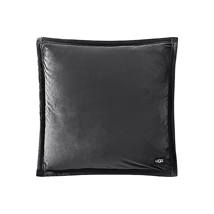 Alternate image 1 for UGG® Coco Luxe Square Throw Pillow in Grey Bobcat