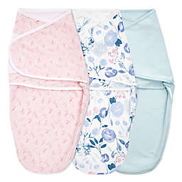 aden + anais® essentials Size 3M 3-Pack Flowers Bloom Easy Wrap Swaddle Wraps in Pink
