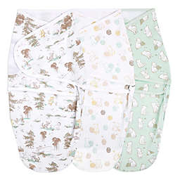 aden + anais® essentials 3-Pack Disney Pooh Easy Wrap Swaddle Wraps in Grey<br />