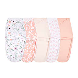 aden + anais® essentials 5-Pack Feminine Florals Easy Wrap Swaddle Wraps in Pink