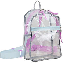 Eastsport Clear Mini Backpack with Colored Straps