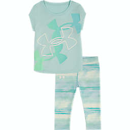 Under Armour® 2-Piece Shirt and Legging Set in Aqua