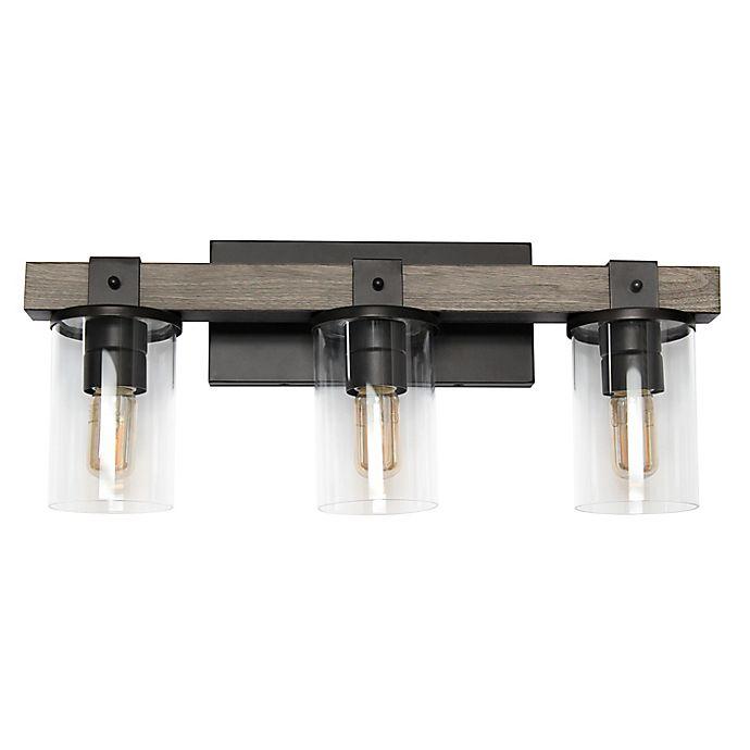 Alternate image 1 for Elegant Designs 3-Light Industrial Restored Wood Look Vanity