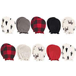 Hudson Baby® 10-Piece Moose Scratch Mitten Set in Red