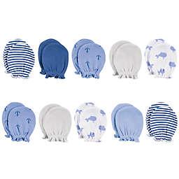 Hudson Baby® 10-Piece Blue Whale Scratch Mitten Set in Blue