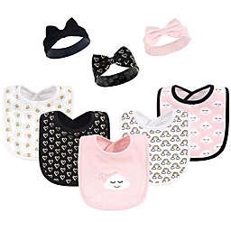 Hudson Baby® 8-Piece Dream Love Bib and Headband Set in Black