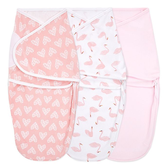 Alternate image 1 for aden + anais® essentials 3-Pack iBriar Rose Easy Wrap Swaddle Wraps in Pink