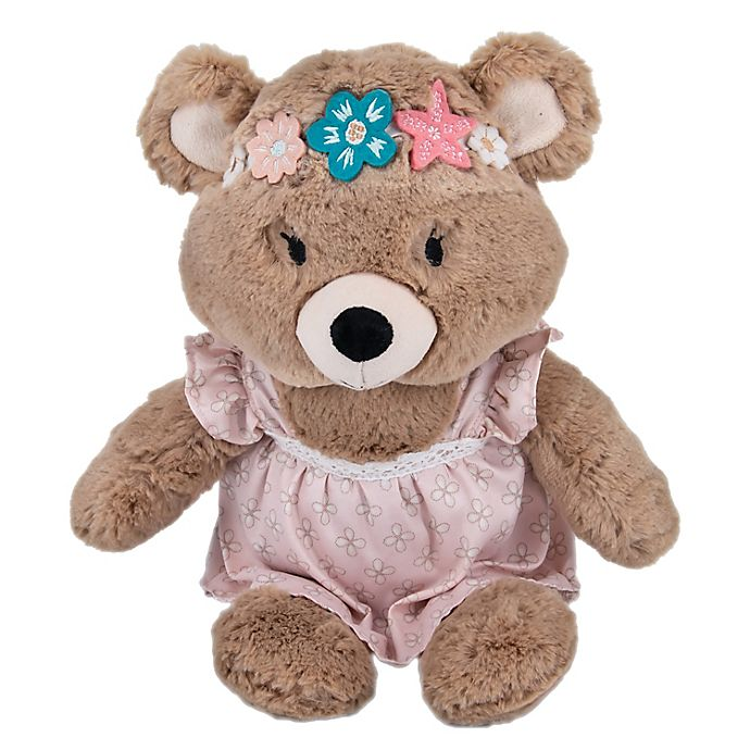 Alternate image 1 for Levtex Baby® Malia Bear Plush Toy in Brown/Pink