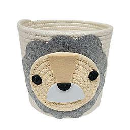 Levtex Baby®Lion Rope Storage Basket in White/Grey