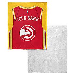 NBA Atlanta Hawks Personalized Silk Touch Sherpa Throw Blanket