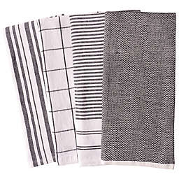 Our Table™ Select Dual Sided Kitchen Towels in Black (Set of 4)