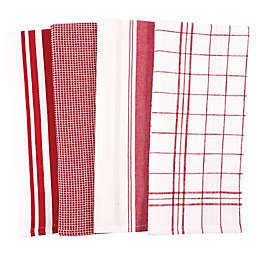 Our Table™ Select Multi Purpose Kitchen Towels in Haute Red (Set of 4)