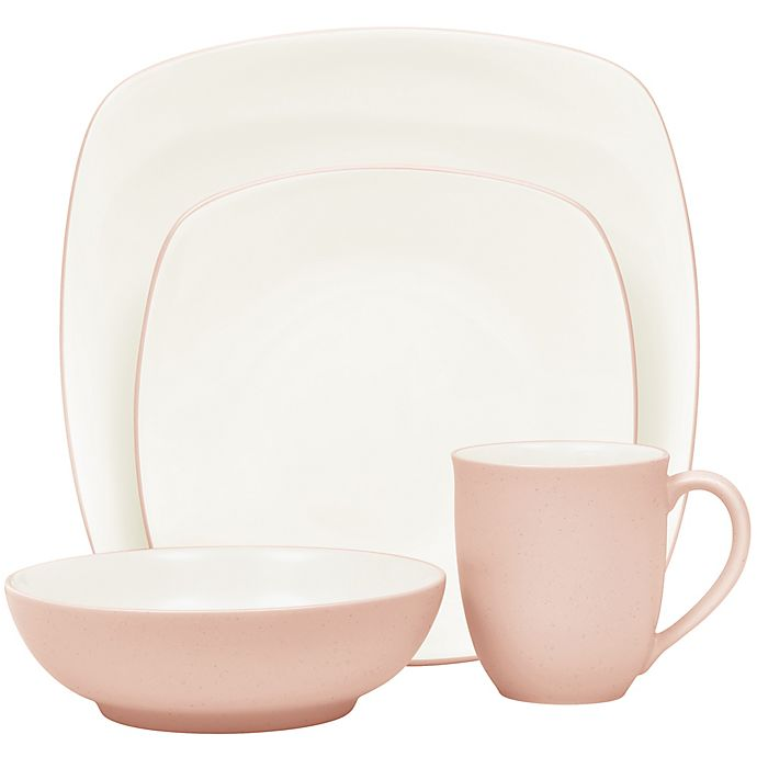 Alternate image 1 for Noritake® Colorwave Square 4-Piece Place Setting in Pink
