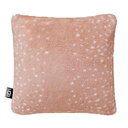 UGG® Elsie Faux Fur Square Throw Pillow in Quartz