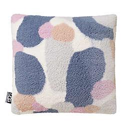 UGG® Rock Pool Faux Fur Square Throw Pillow in Verbena