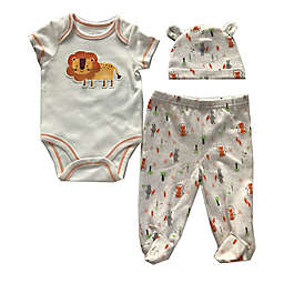 Sterling Baby Size 3M 3-Piece Tiger Bodysuit, Footed Pant, and Hat Set in Yellow