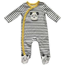Sterling Baby Size 9M Striped Giraffe Long Sleeve Footie in Yellow/Multi