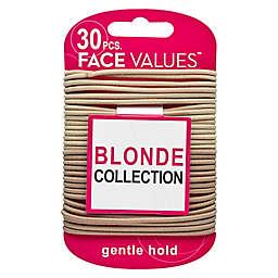 Harmon Face Values® 30-Piece Blonde Strong Hold Hair Elastics