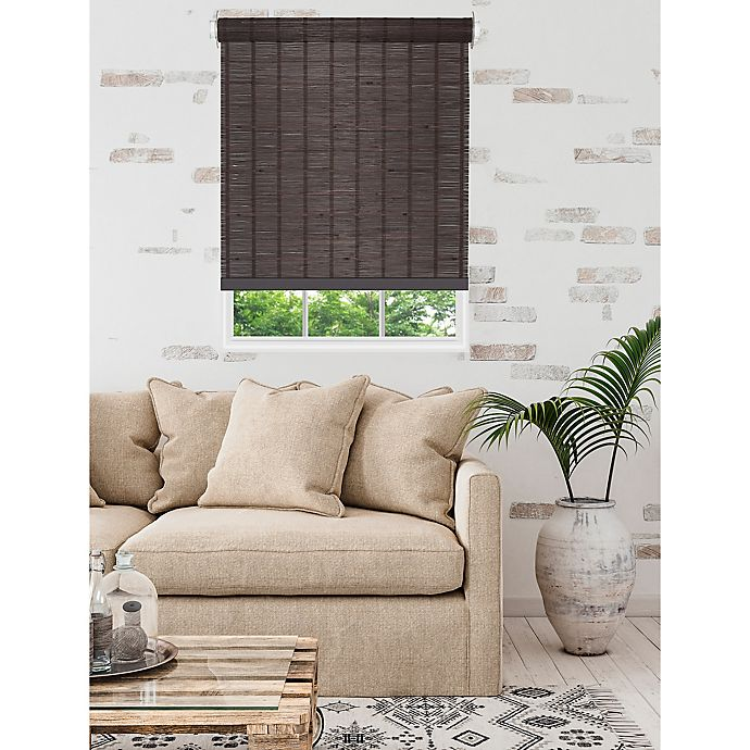 Alternate image 1 for MyHome Bamboo Light Filtering Cordless 72-Inch Length Roller Shade