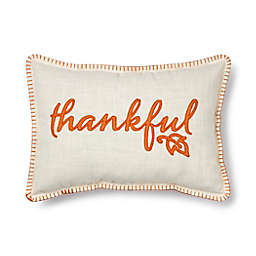 Bee & Willow™ Thankful Plaid Indoor/Outdoor Oblong Throw Pillow in Natural