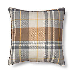 Bee & Willow™ Bram Plaid Indoor/Outdoor Square Throw Pillow in Neutral
