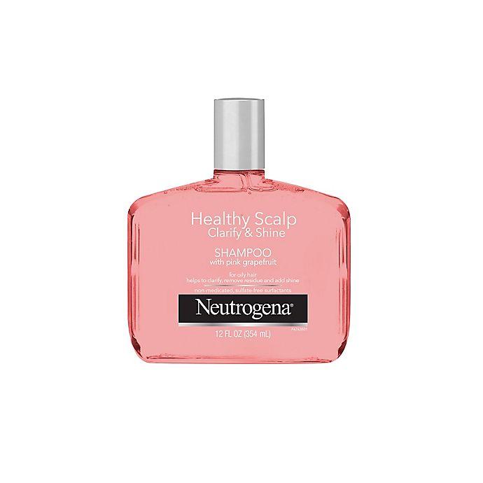 Alternate image 1 for Neutrogena® 12 oz. Healthy Scalp Clarify & Shine Shampoo with Pink Grapefruit