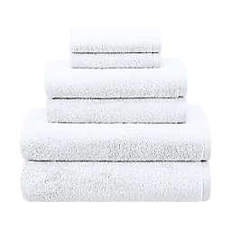Haven™ 6-Piece Organic Cotton Terry Bath Towel Set in Bright White