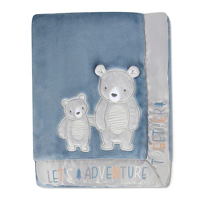 Alternate image 1 for Wendy Bellissimo™ Best Friend Bears Adventure Plush Blanket in Blue